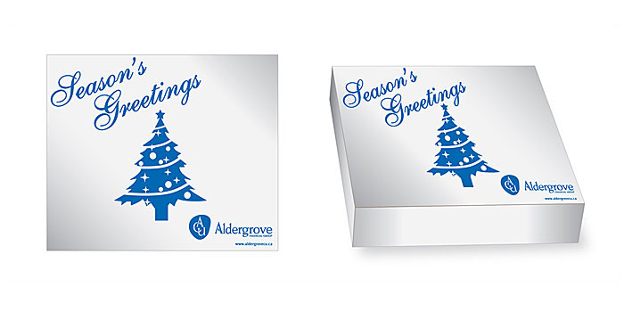 Aldergrove Credit Union truffle box design for 2013 holiday season