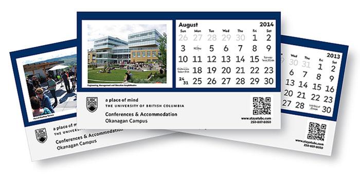 UBC Okanagan Desk Calendar Design