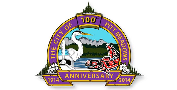 Vector graphics representation for the Pitt Meadows BC centennial anniversary